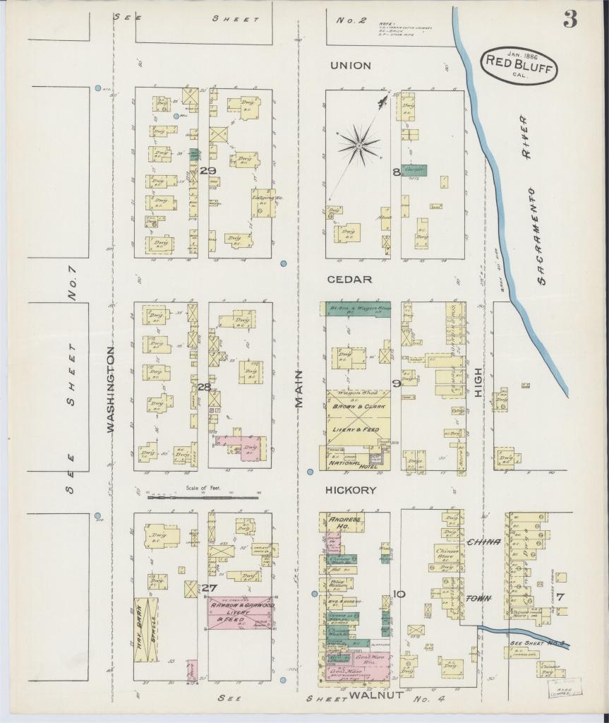 Red Bluff California Map | Secretmuseum - Red Bluff California Map