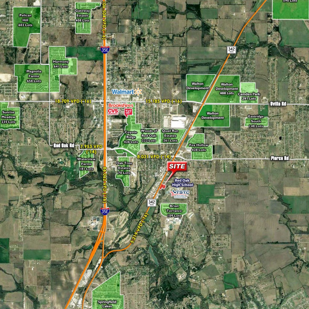 Red Oak (Tx 342 & Louise Ritter) - The Stainback Organization - Red Oak Texas Map