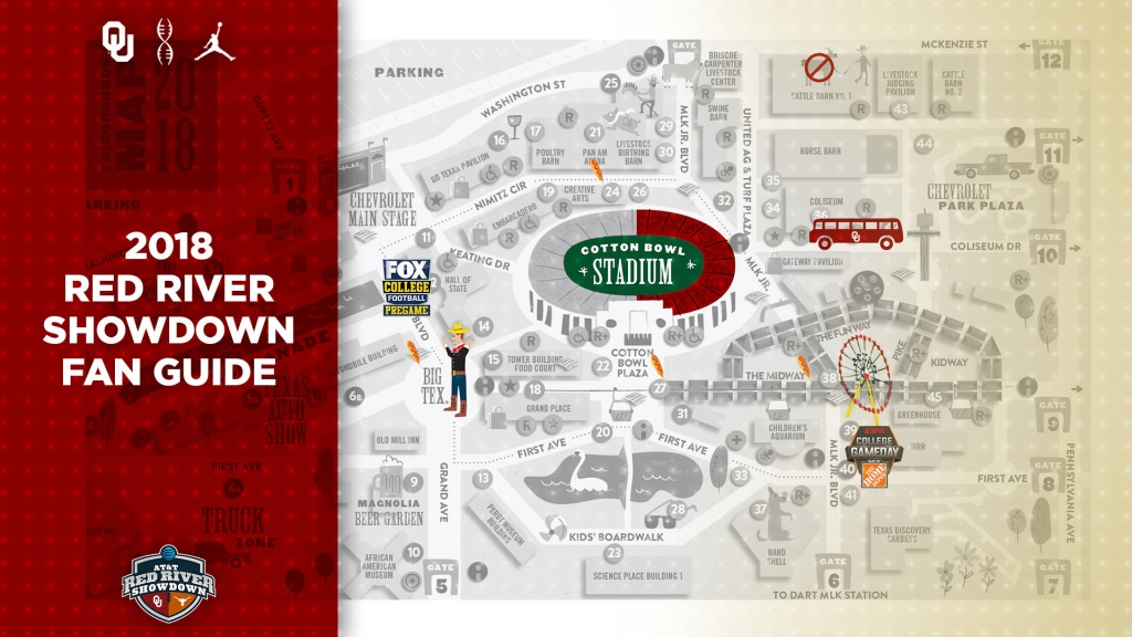 Red River Showdown Fan Guide - The Official Site Of Oklahoma Sooner - Texas State Fair Parking Map