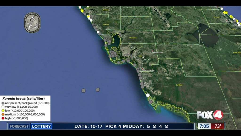 Red Tide Maps Show Few Spots In Southwest Florida - Map Of Southwest Florida Gulf Coast