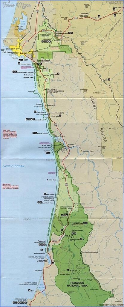 Redwood National Park Map California - Toursmaps ® - Redwood Park California Map