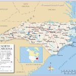 Reference Maps Of North Carolina, Usa   Nations Online Project   Printable Map Of North Carolina Cities