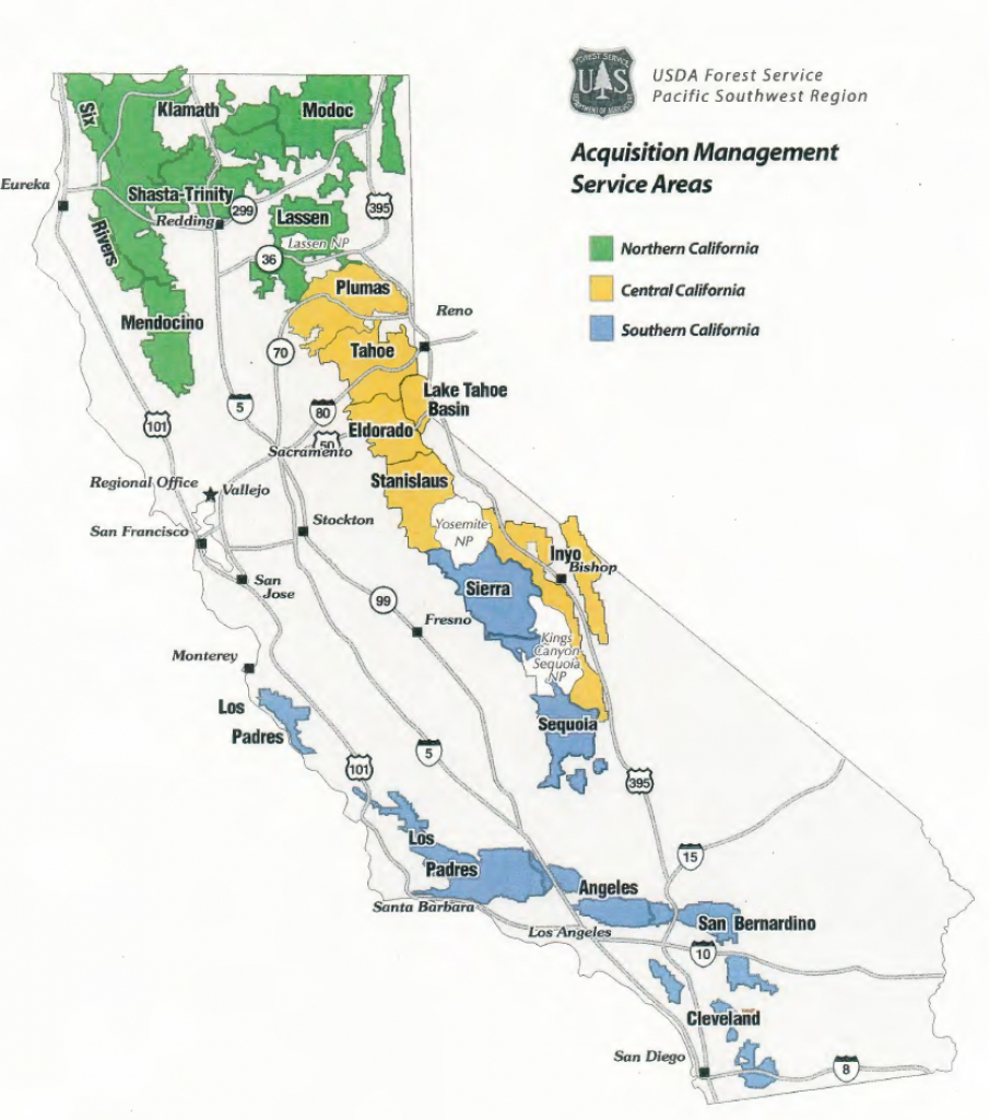 Region 5 - Contracting - California Forests Map