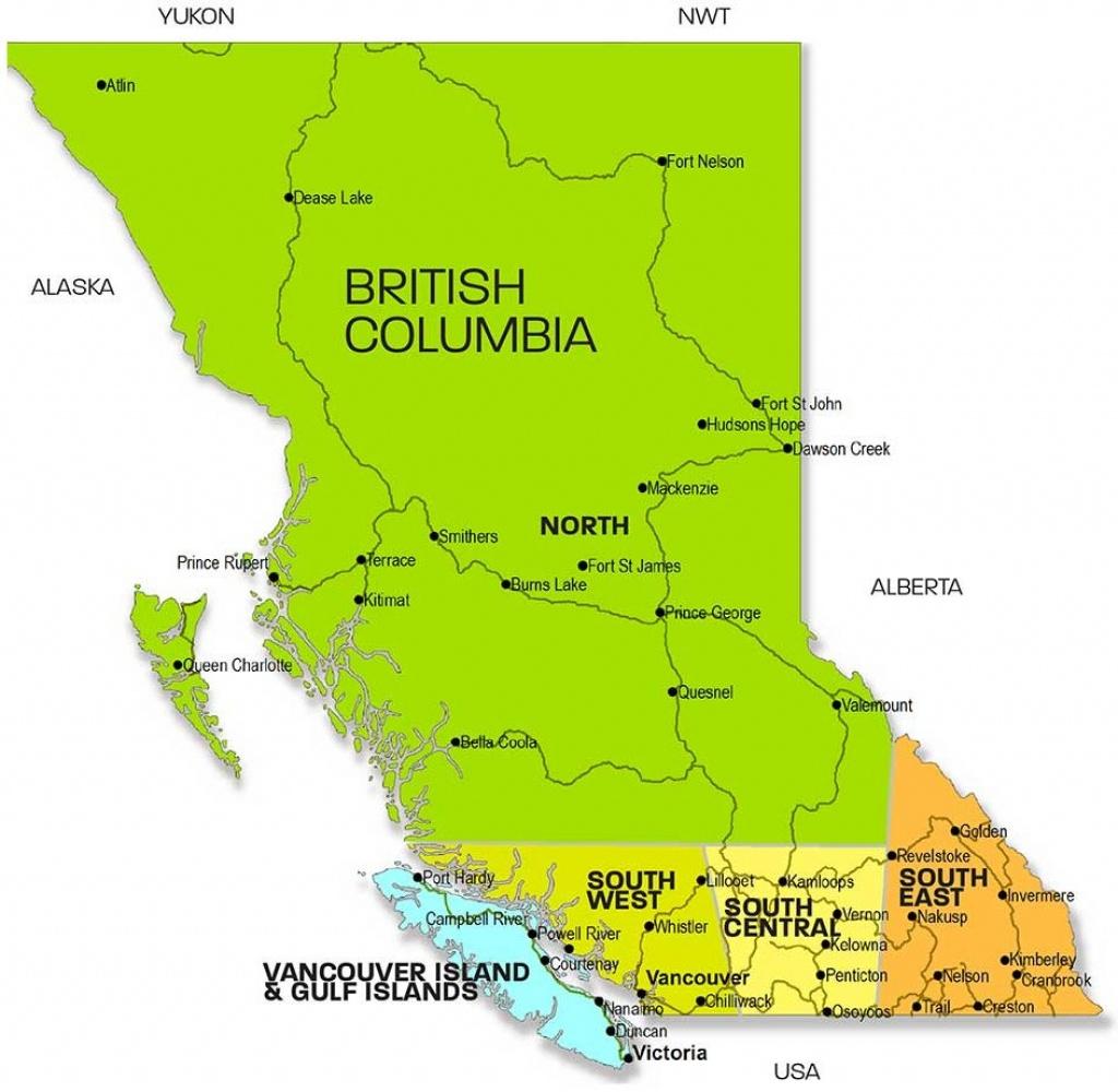 Regional Map Of Bc | Bc Touring Council - Printable Map Of Bc