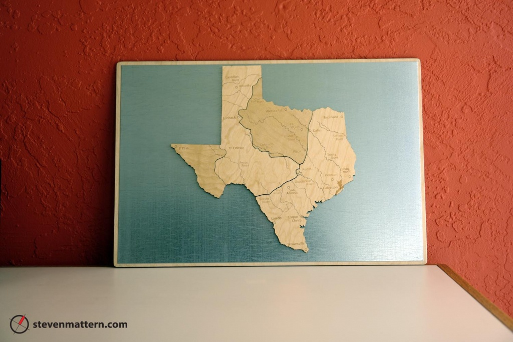Regions Of Texas Map Puzzle Birch Plywood | Etsy - Texas Map Puzzle