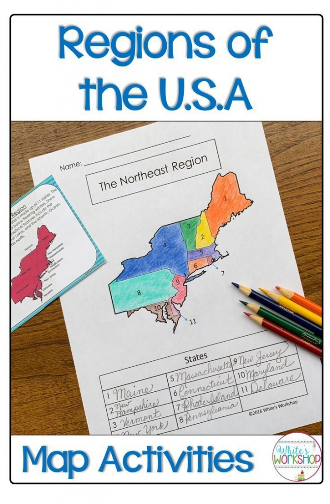 Regions Of The United States Map Activities | My 4Th Grade Favorites - 5 Regions Of The United States Printable Map