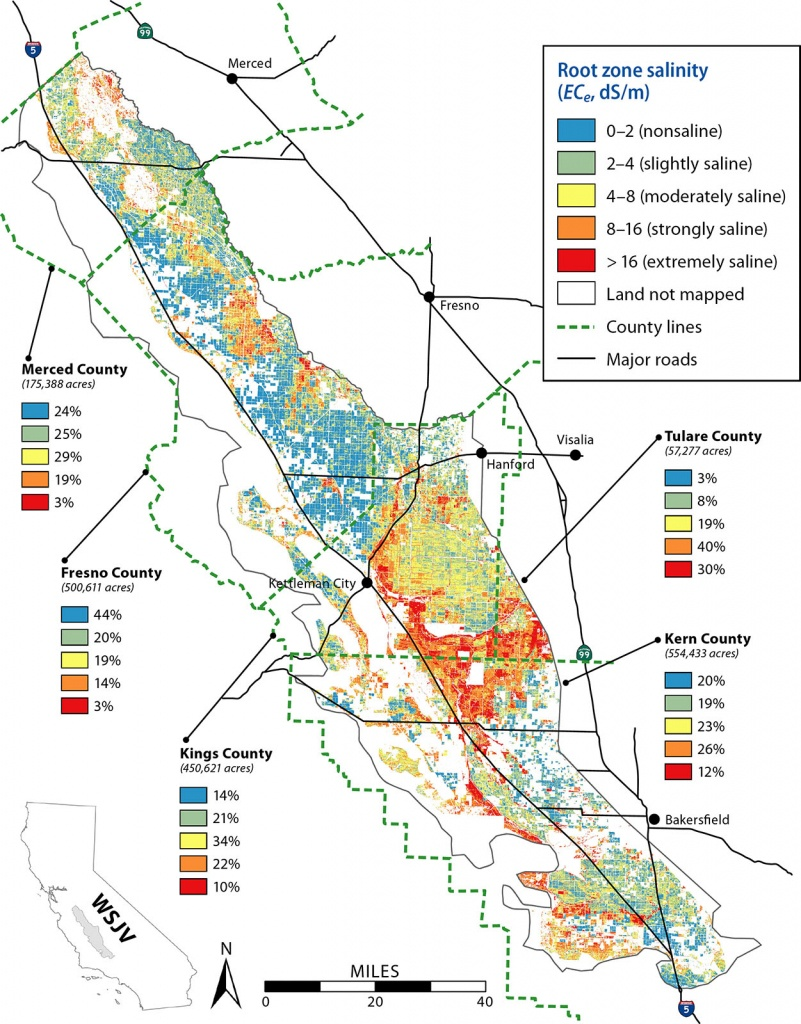 Remote Sensing Is A Viable Tool For Mapping Soil Salinity In - California Almond Production Map