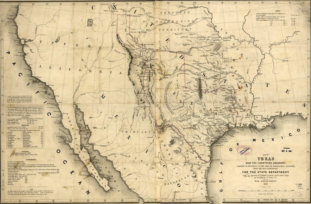 Republic Of Texas Map, 1846 - Texas Map 1846