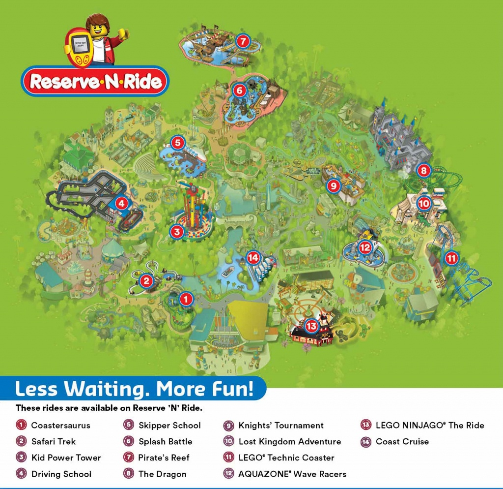Reserve 'n' Ride System | Legoland California Resort - Legoland California Map