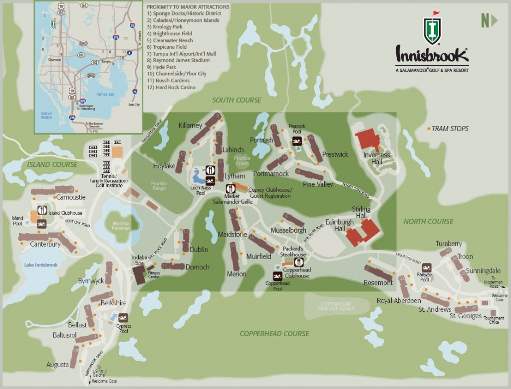 Resort Map | Innisbrook Golf & Spa Resort | Florida - Innisbrook Florida Map