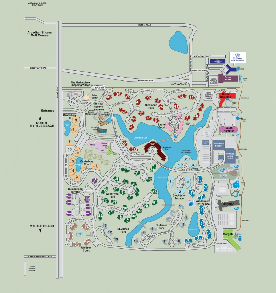 Resort Map | Kingston Resorts | Myrtle Beach Hotels - Myrtle Beach Florida Map