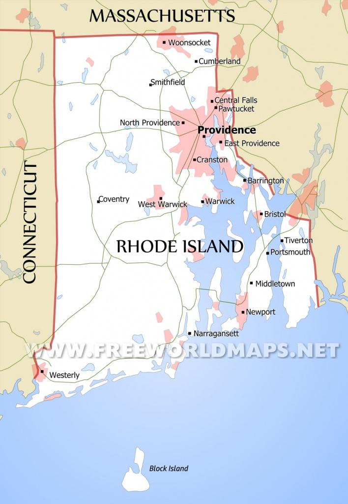 Rhode Island Maps - Printable Map Of Rhode Island