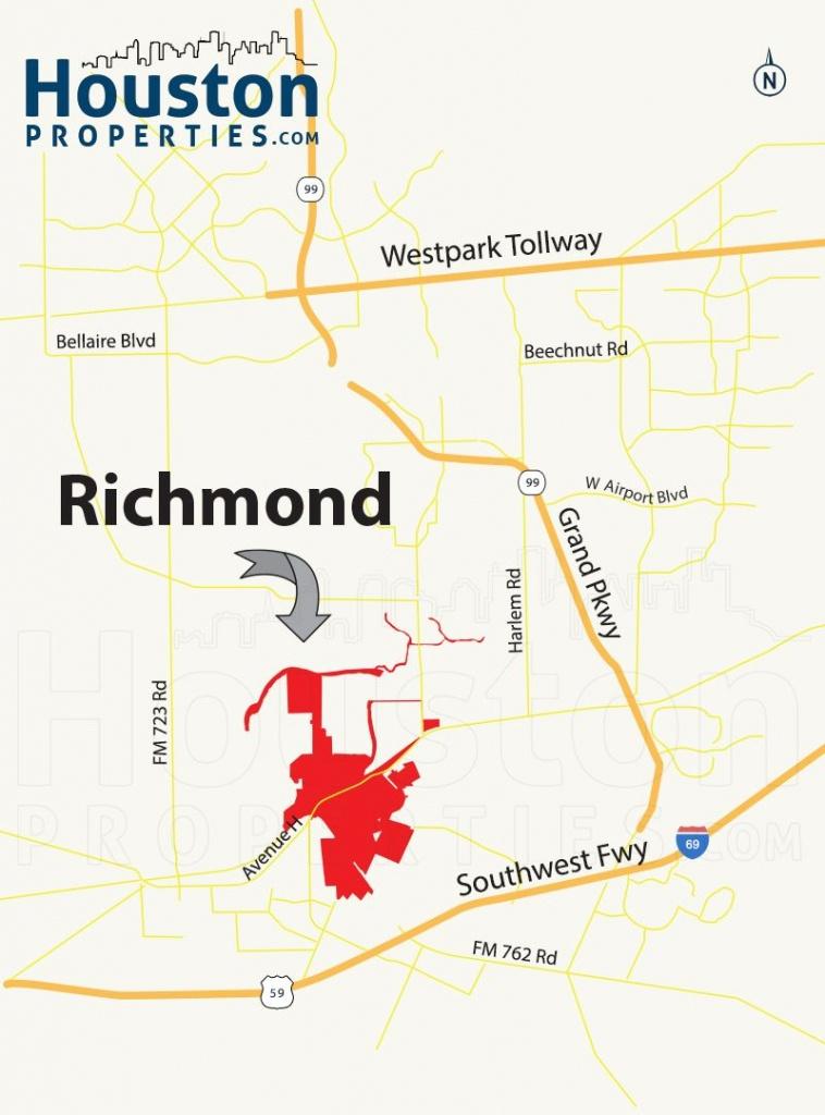 Richmond Tx Map | Great Maps Of Houston | Richmond Homes, Richmond - Stafford Texas Map