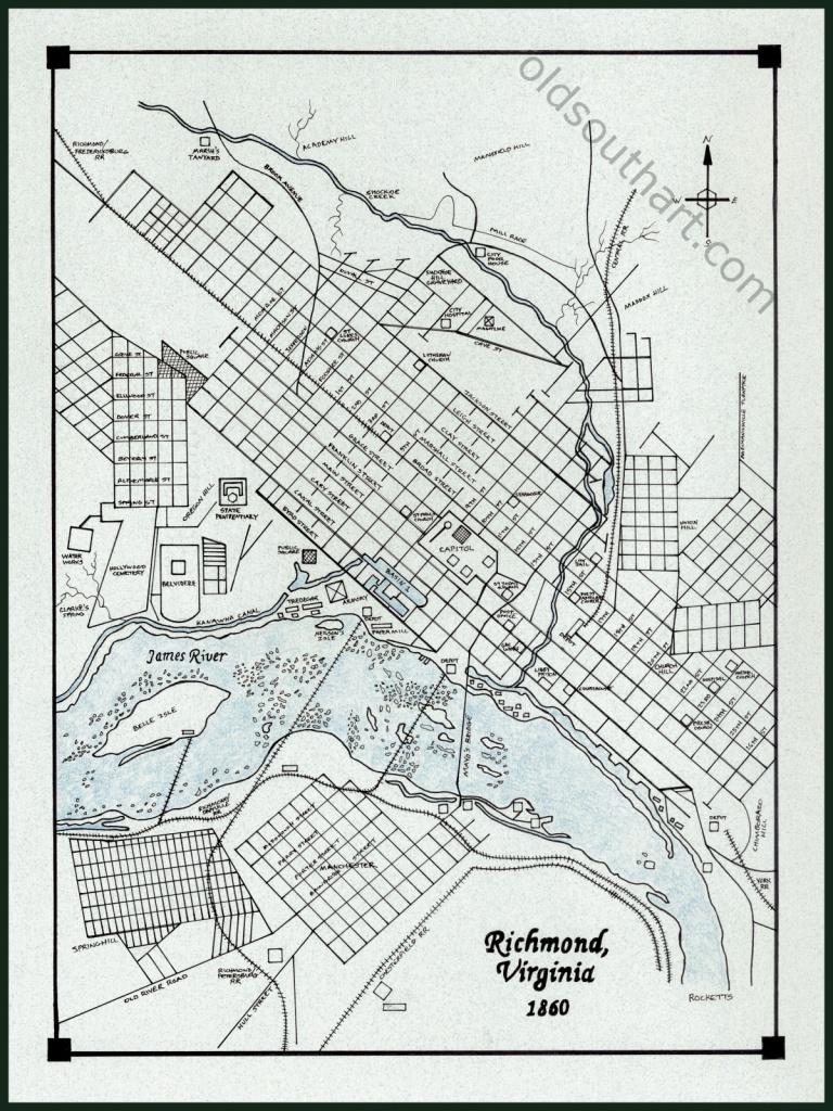 Richmond Va Map - Printable Map Of Richmond Va