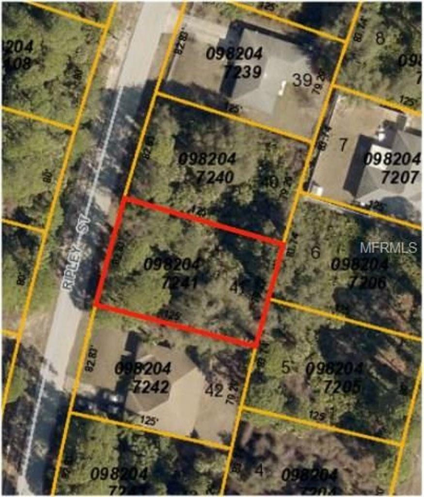 Ripley Street, North Port, Fl 34286 | Mls# C7249541 | Purplebricks - North Port Florida Street Map