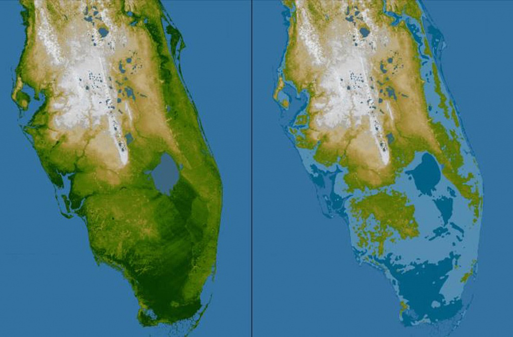 Rising Seas May Mean Tampa Bay Floods Even During Sunny Days | Wusf News - Florida Sea Level Rise Map
