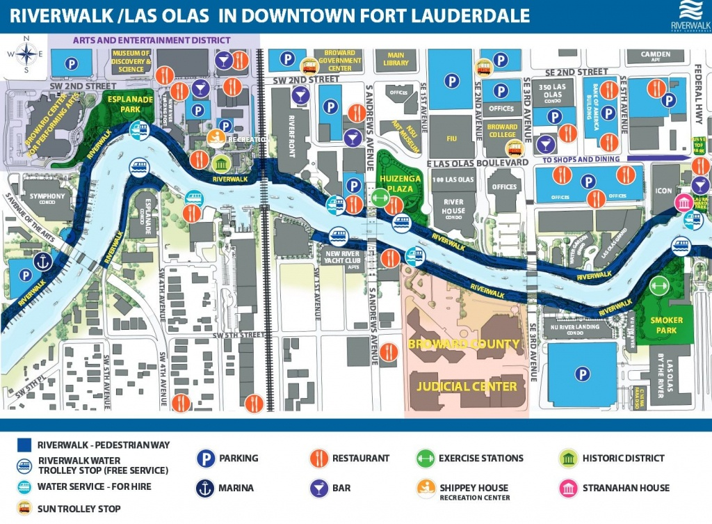 Riverwalk/las Olas In Downtown Fort Lauderdale | April Break In 2019 - Street Map Of Fort Lauderdale Florida