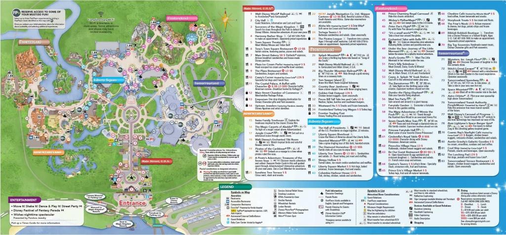 Rmh Travel Comparing Disneyland To Walt Disney World.magic - Maps Of Disney World Printable