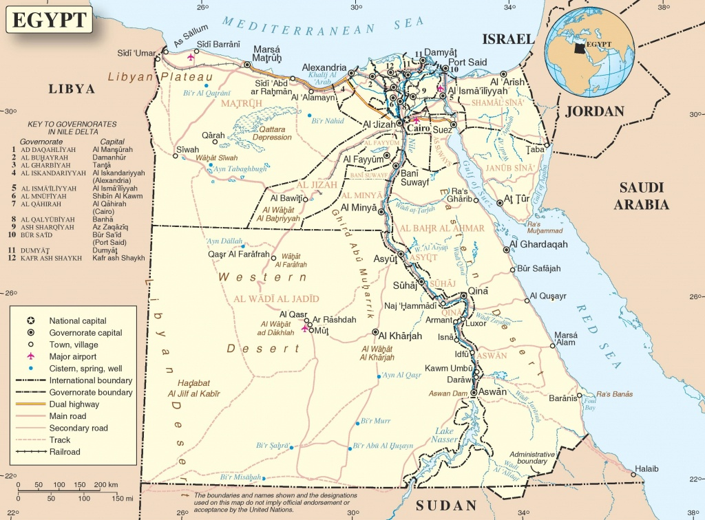 Road Map Of Egypt - Printable Map Of Egypt