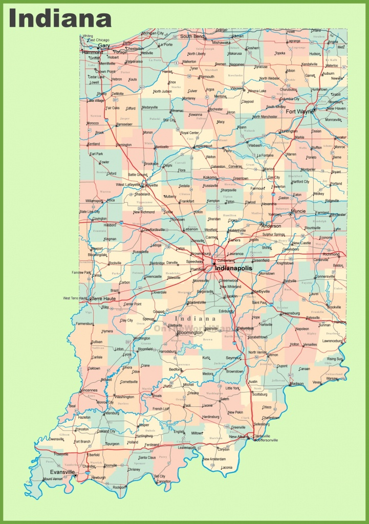 Road Map Of Indiana With Cities - Printable Map Of Indiana