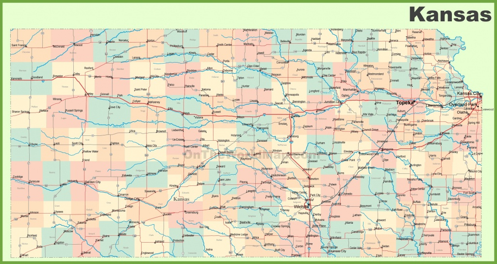 Road Map Of Kansas With Cities - Printable Map Of Kansas