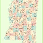 Road Map Of Mississippi With Cities   Printable Map Of Ms