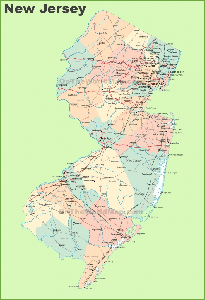Road Map Of New Jersey With Cities - Printable Map Of New Jersey