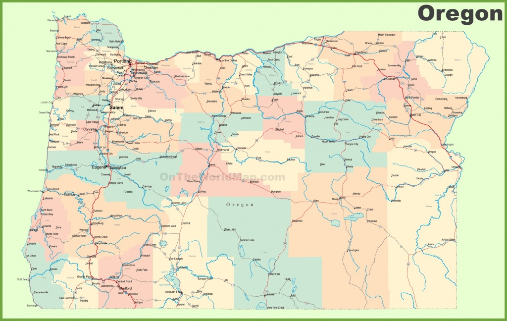Road Map Of Oregon With Cities - Oregon Road Map Printable