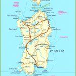 Road Map Of Sardinia   Printable Map Of Sardinia