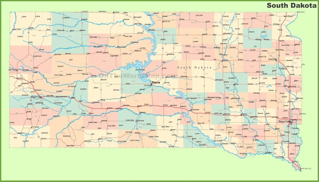 Road Map Of South Dakota With Cities - Printable Map Of South Dakota