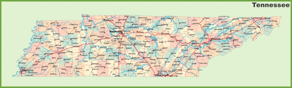 Road Map Of Tennessee With Cities - Printable Map Of Tennessee