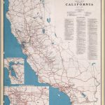 Road Map Of The State Of California, July, 1940.   David Rumsey   California State Road Map