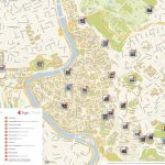 Rome Printable Tourist Map | Sygic Travel   Rome Tourist Map Printable