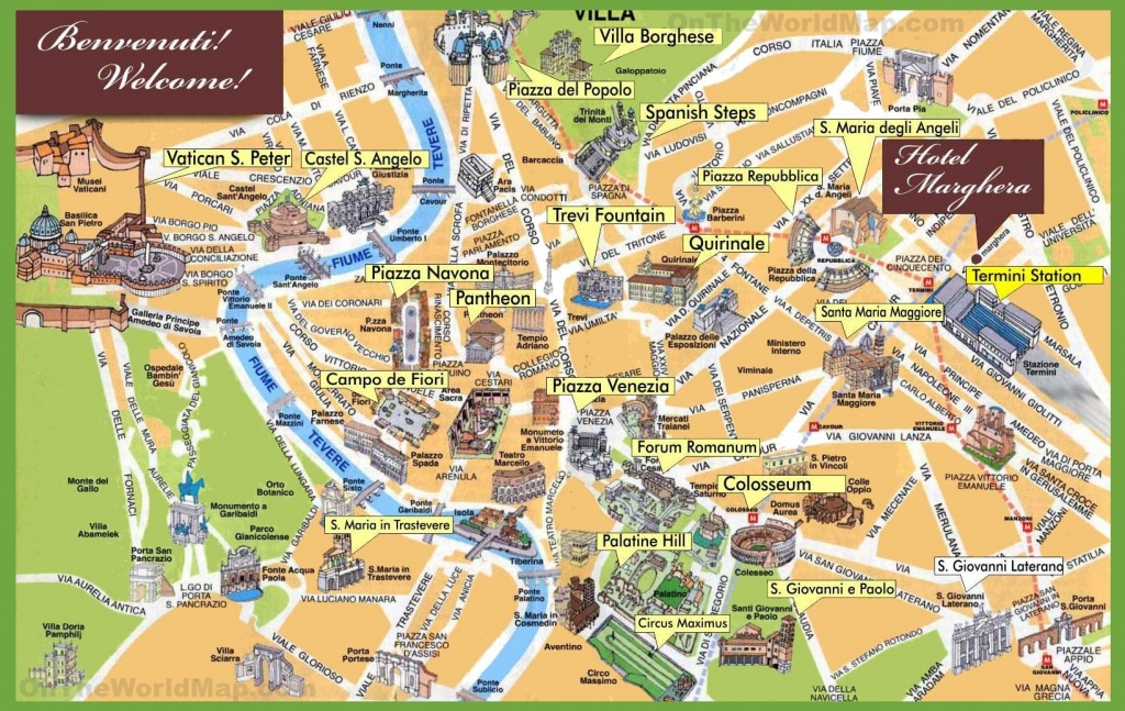 Rome Sightseeing Map | Italy In 2019 | Rome Itinerary, Rome Map - Rome Sightseeing Map Printable