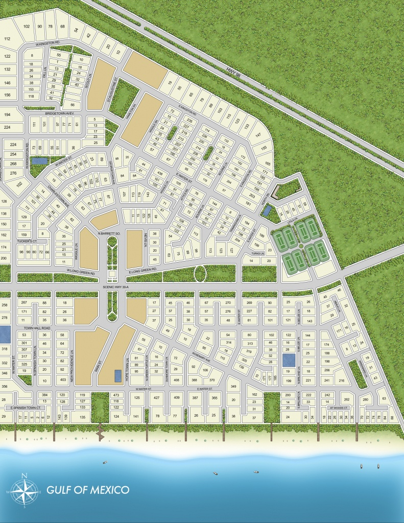 Rosemary Beach Community Map - Rosemary Beach Florida Map