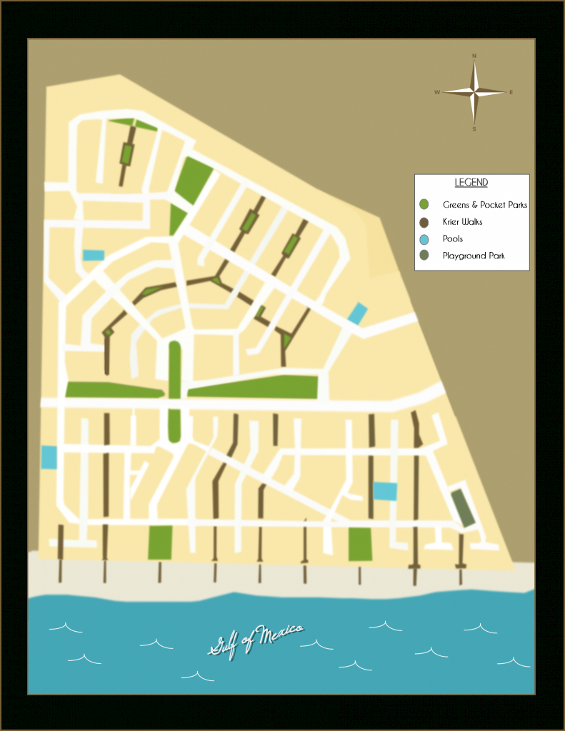 "Rosemary Beach Florida - Neighborhood Parks And ""Krier"" Walks - Where Is Seagrove Beach Florida On A Map"