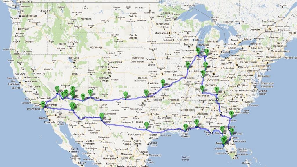 Route 66 Map Wallpaper - Wallpapersafari - Printable Route 66 Map