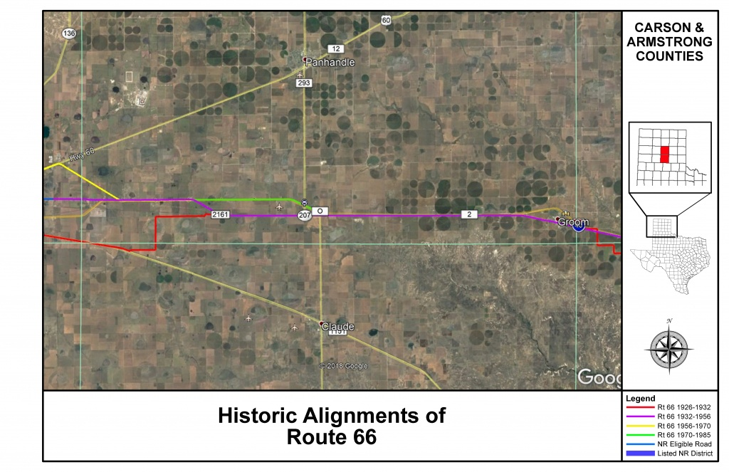 Route 66 Maps | Thc.texas.gov - Texas Historical Commission - Texas Survey Maps