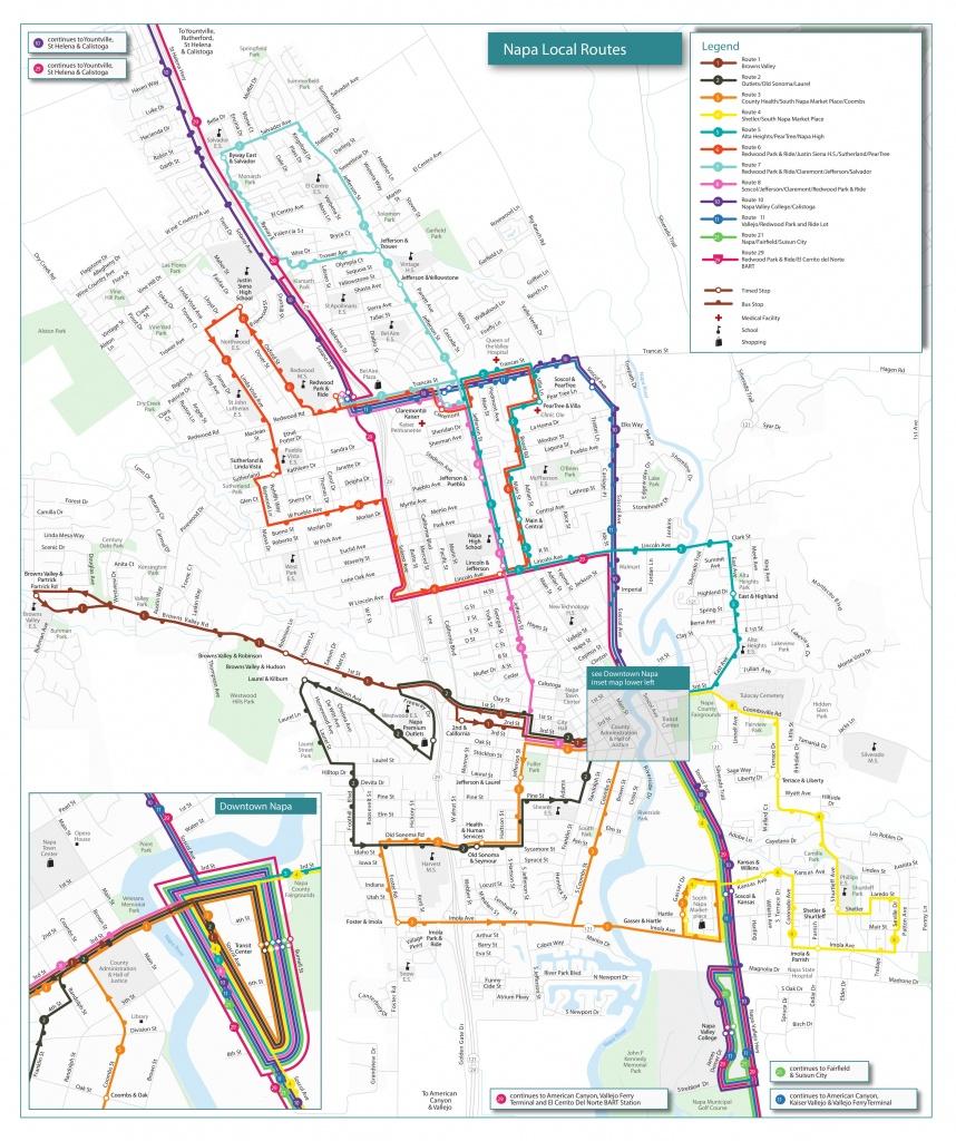 Routes & Schedules | Vine Transit - Printable Route Maps