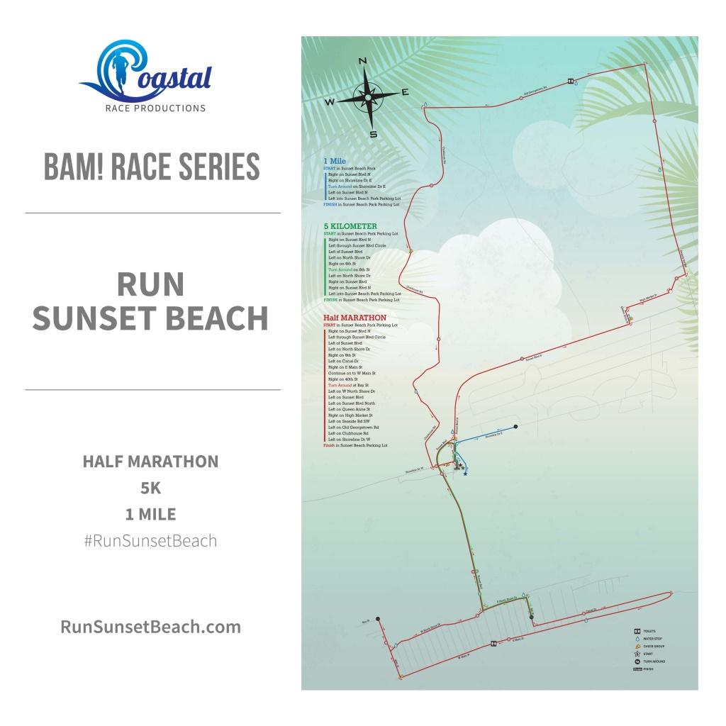 Run Sunset Beach 2020 | Coastal Race Productions - Printable Map Of Ocean Isle Beach Nc