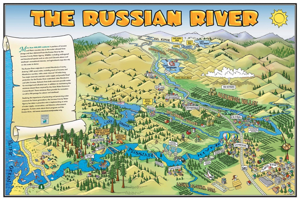 Russian River California Map Map Of California Springs Russian River - Russian River California Map