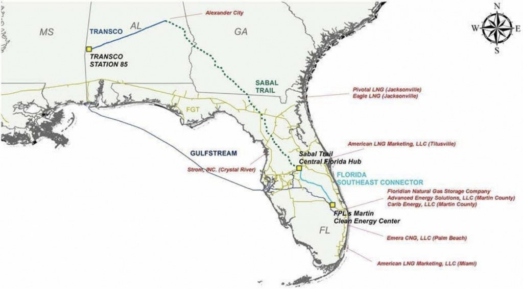 Sabal Trail Opponents Say Pipeline Is Part Of Florida's 'overbuilt - Florida Natural Gas Map
