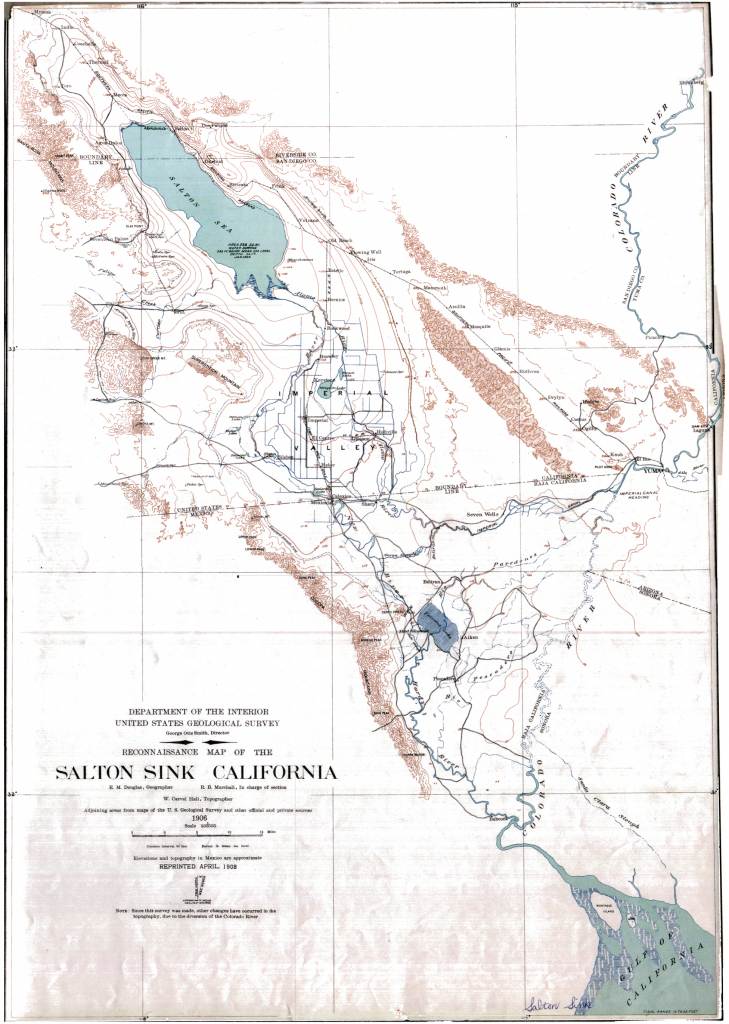 Salton Sink California Map - Rise Of The Salton Sea - Salton Sea California Map
