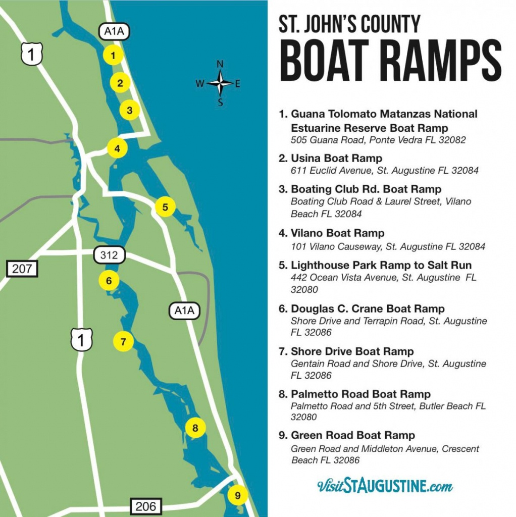 Saltwater & Freshwater Fishing In St. Augustine, Fl - St Augustine Florida Map
