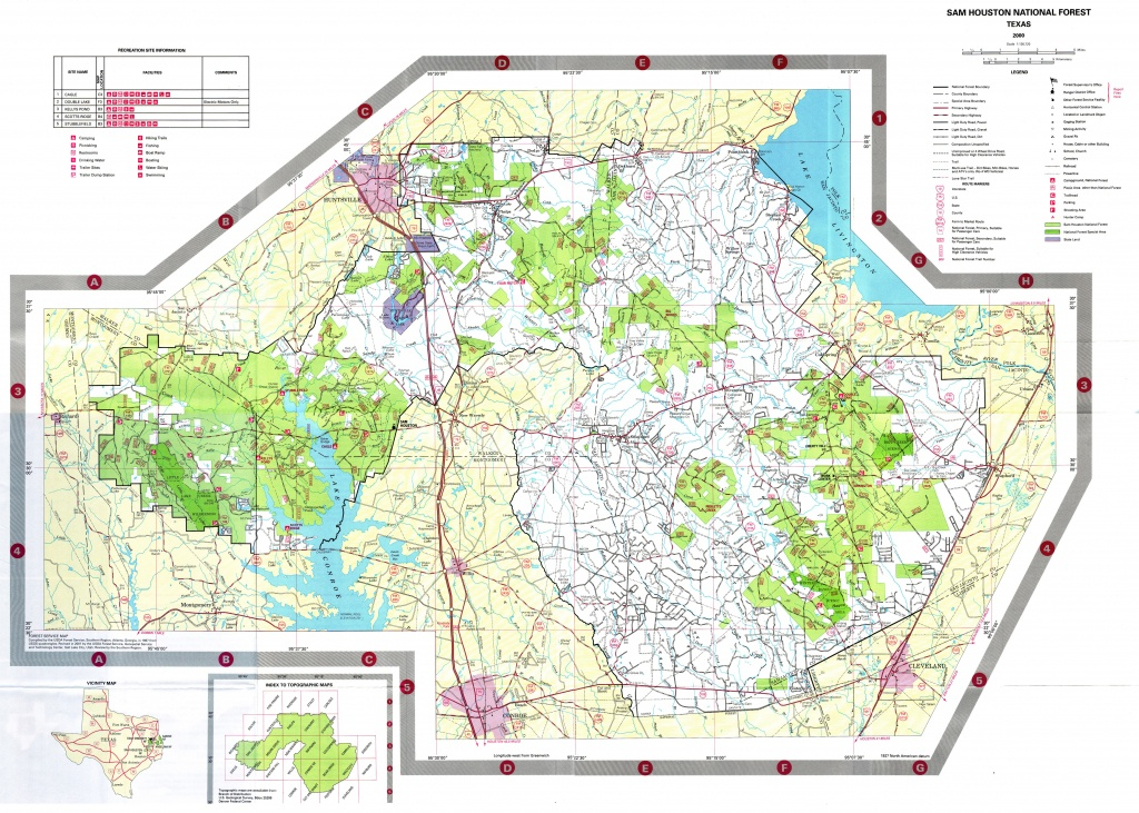 Sam Houston National Forest Map - New Waverly Texas • Mappery - Texas Wma Map