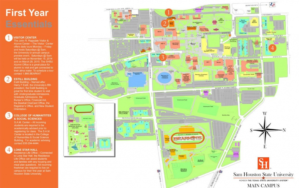 Sam Houston State Campus Map   Danielrossi - Texas State University Housing Map