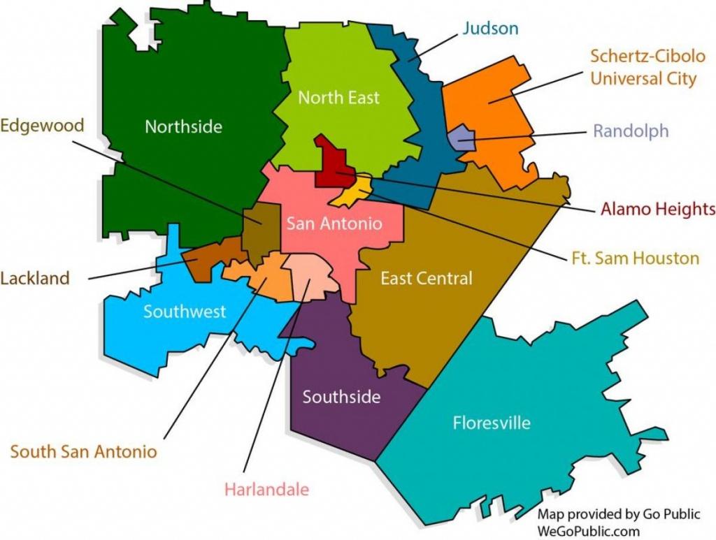 San Antonio District Kaart - Kaart Van San Antonio-District (Texas - Lackland Texas Map