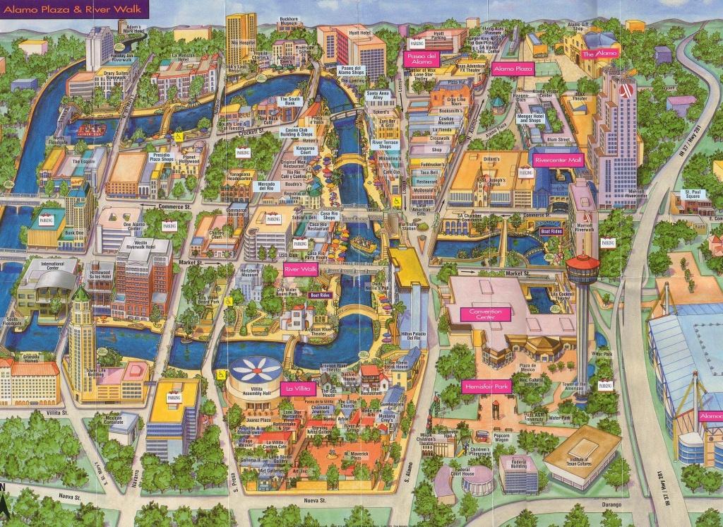 San Antonio   San Antonio, Texas Tourist Map See Map Details From - Map Of Hotels In San Antonio Texas