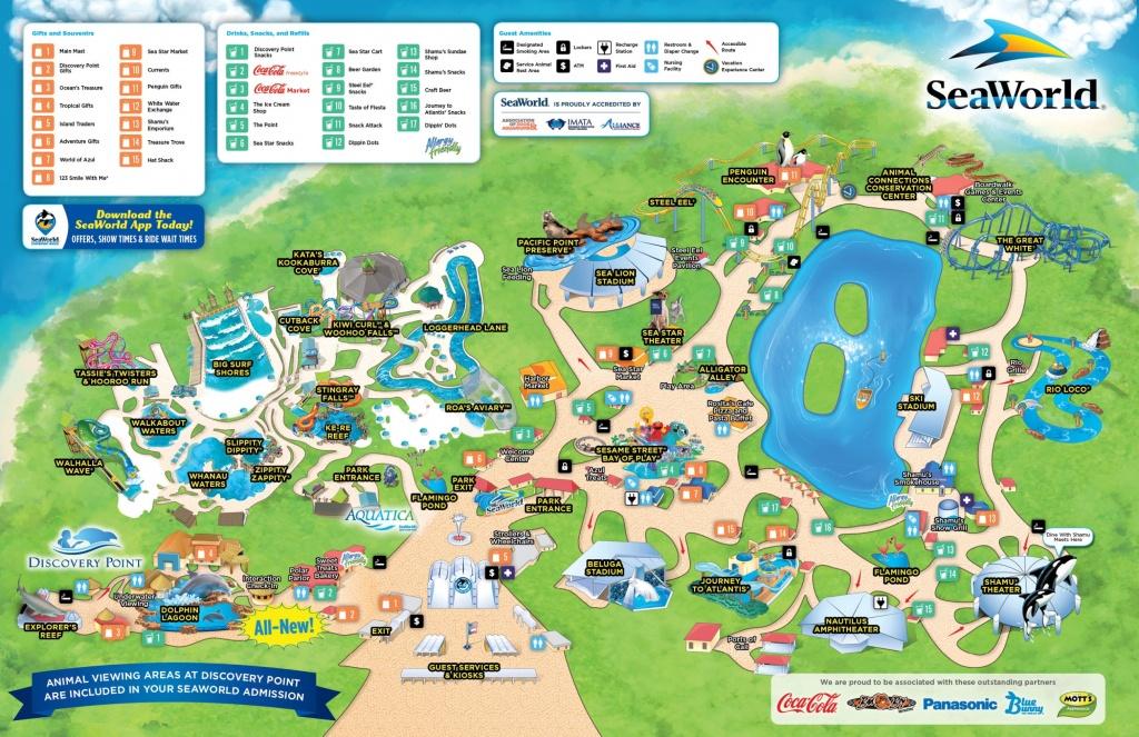 San Antonio Seaworld Map - Florida Sea World Map
