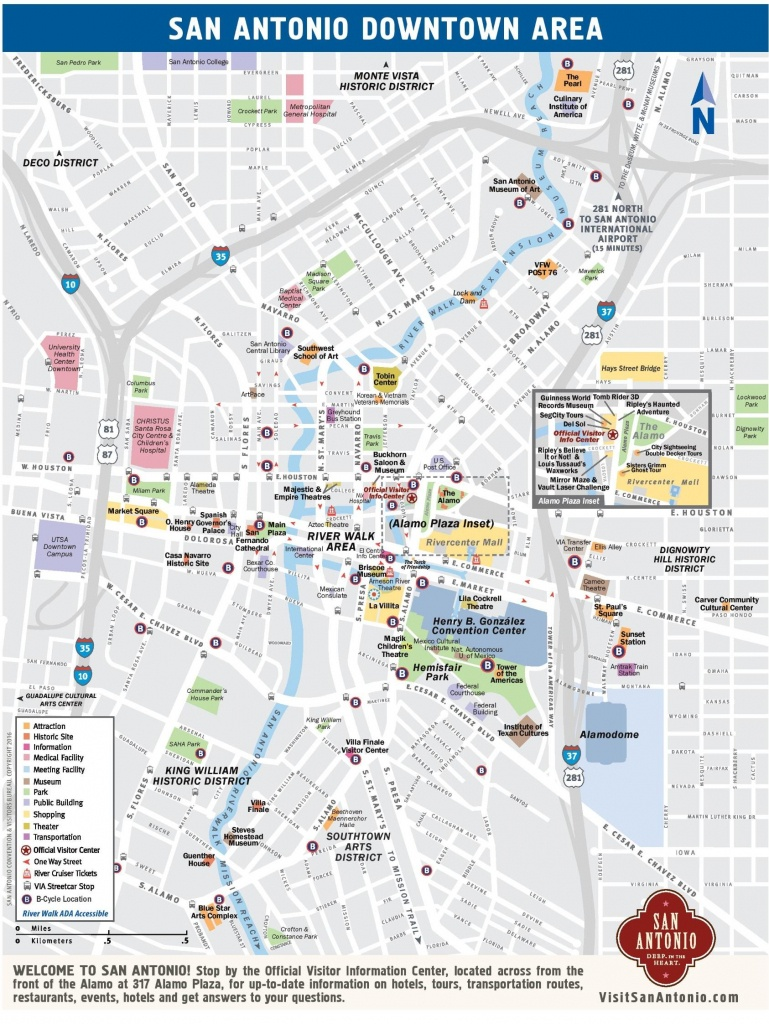 San Antonio Street Map - Street Map Of San Antonio Texas (Texas - Usa) - Detailed Map Of San Antonio Texas